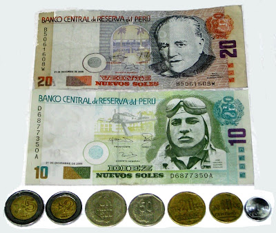An lds missionary couple in peru peruvian money the nuevo sol each sol is divided into cntimos just as the american dollar is divided into cents altavistaventures Image collections