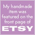 Giggleberry's items have featured on the Front Page of Etsy 11 times!