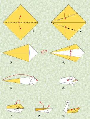 origami goose easy make origami instructions for kids