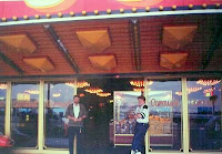 Me and Danny outside the arcade
