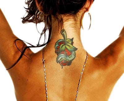 heart tattoo on sexy girl back neck, chest male, arm heart tattoo, and sexy girl heart tattoo on lower back tattoo picture