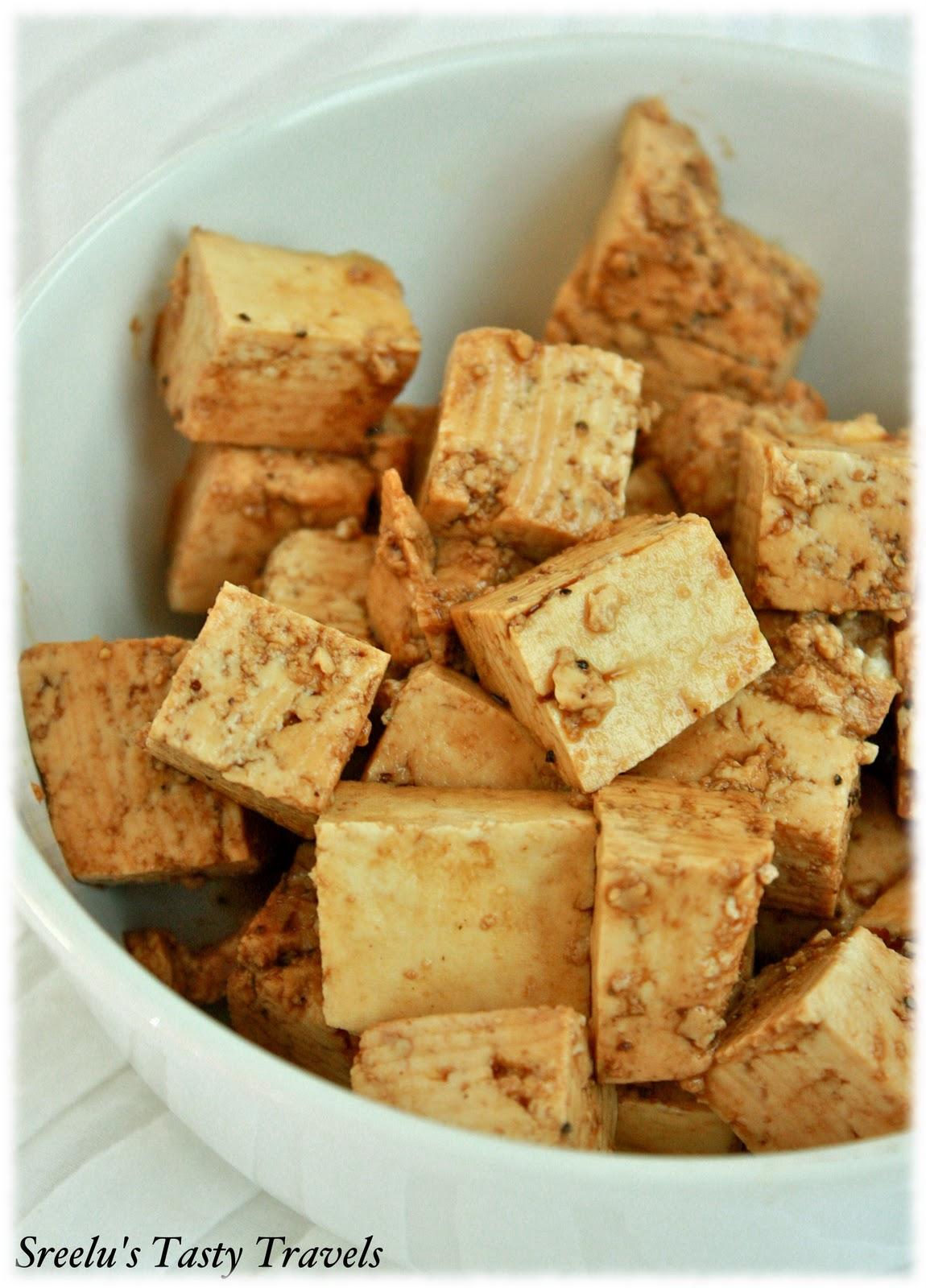 Marinated Tofu With Cold Peanut Noodles Recipe — Dishmaps