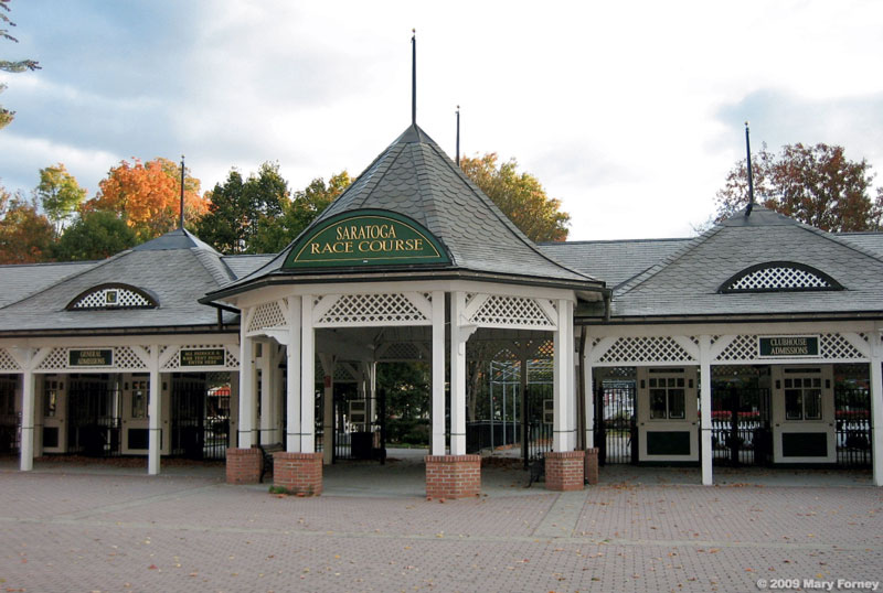Saratoga Race Course entrance gate