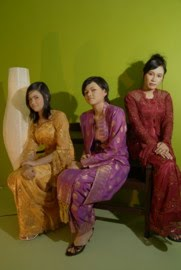 lace oren, maroon, songket purple