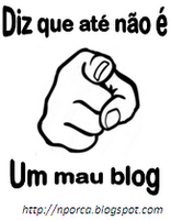 Diz que at no  um mau blog