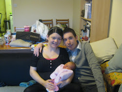 Lily with Mummy and Daddy.
