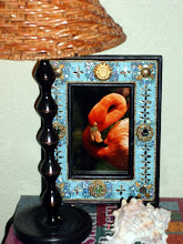 Thrift store frame Flamingo photo by MIL
