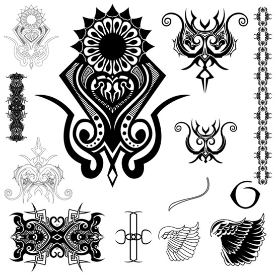 tribal wallpapers. 2010 Tribal Angel Wing