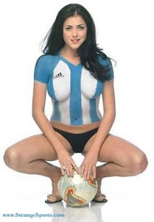Argentina Soccer Body Painting
