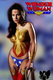 Wonder Women Body  Painting Pictures