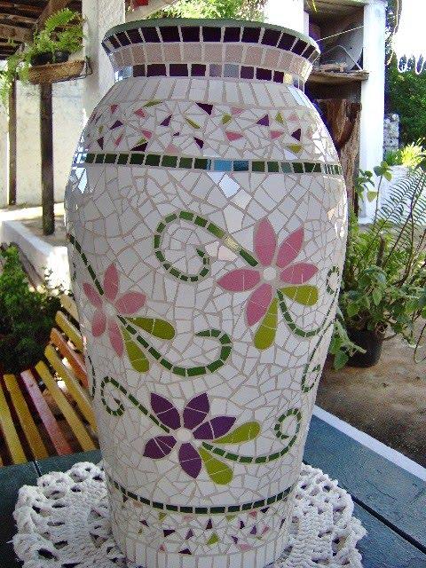 Artel mosaicos vaso cer mica for Mosaico ceramica