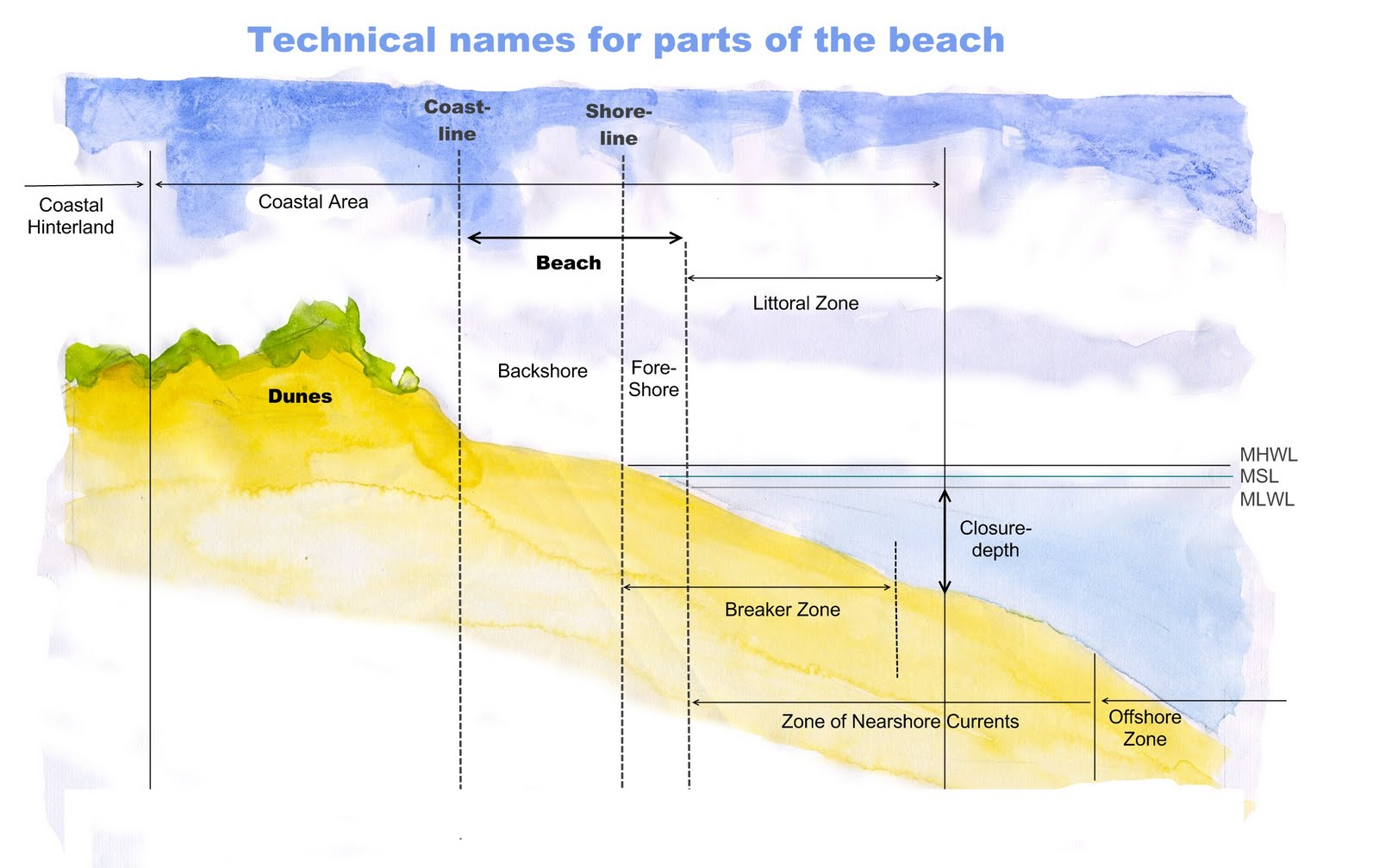 Venus Bay Observation Project Undertanding Some Names For Parts Of Arctic Cat Jet Ski Wiring Diagrams The Beach