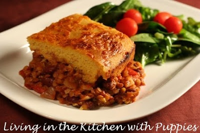 in the Kitchen with Puppies: Vegetarian Chili with Cornbread Topping ...