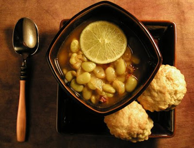 ... Puppies: Super Natural Cooking's Baby Lima Soup with Chipotle Broth