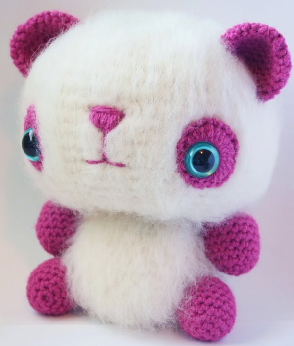 Easy Amigurumi Animal Patterns : 2000 Free Amigurumi Patterns: Fuzzy Panda Amigurumi