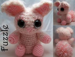 2000 Free Amigurumi Patterns: Cute Pink Fuzzy Rabbit