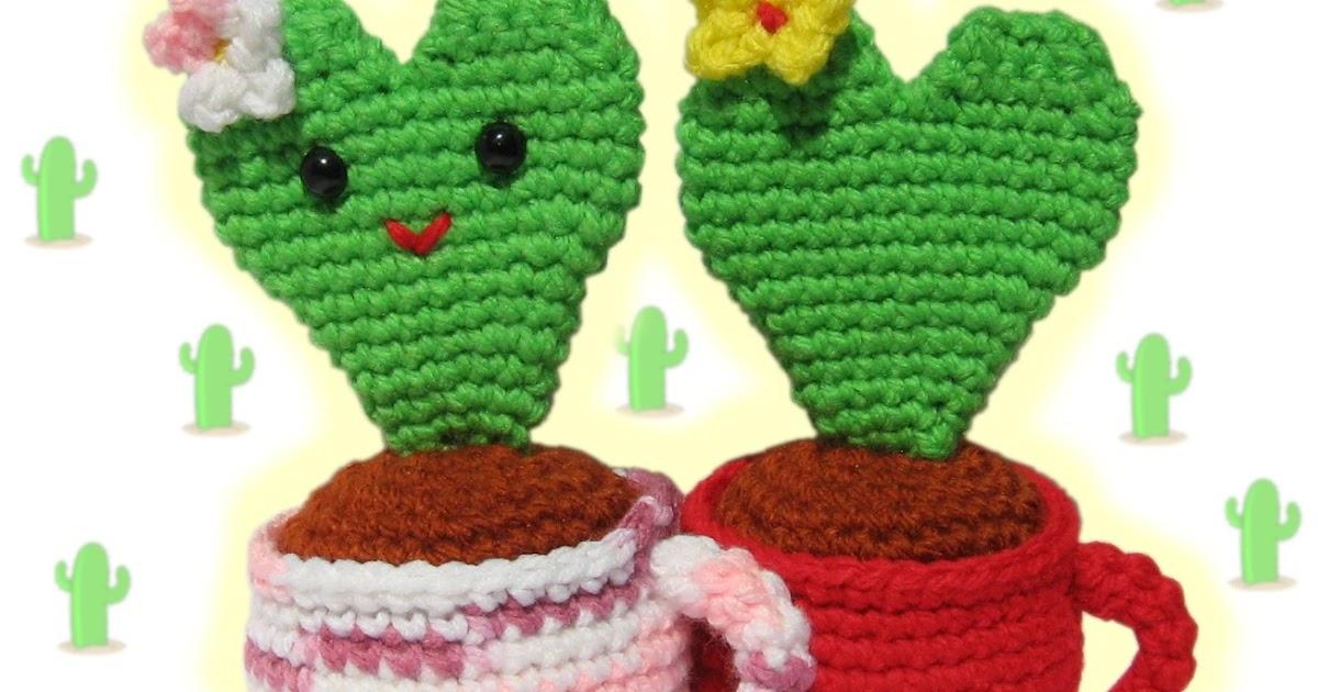 Tecnica Amigurumi Cactus : 2000 Free Amigurumi Patterns: Valentine Heart Cactus