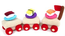 Crochet Pattern SUSHI play food / toys 00442 by skymagenta