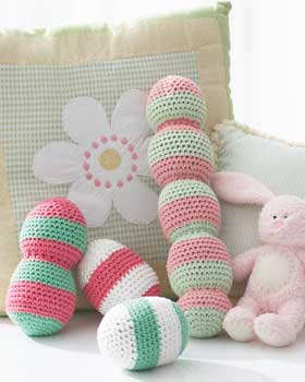 2000 Free Amigurumi Patterns: Baby Cakes - Baby Rattles