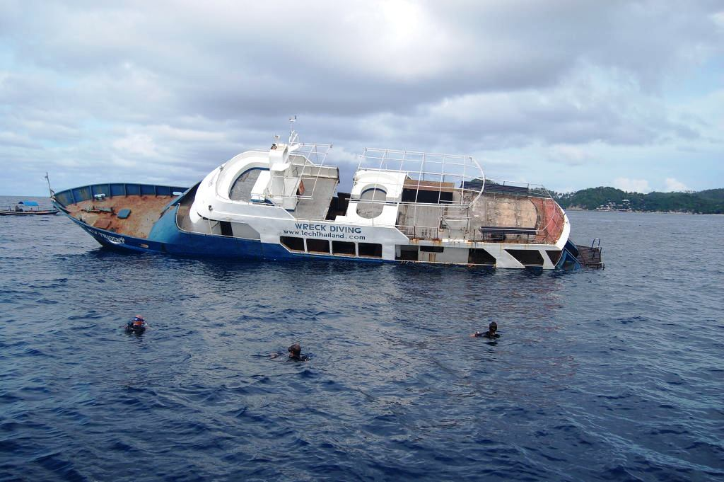 MV Trident has been sunk off Koh Tao