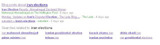 Iran Elections search on Google