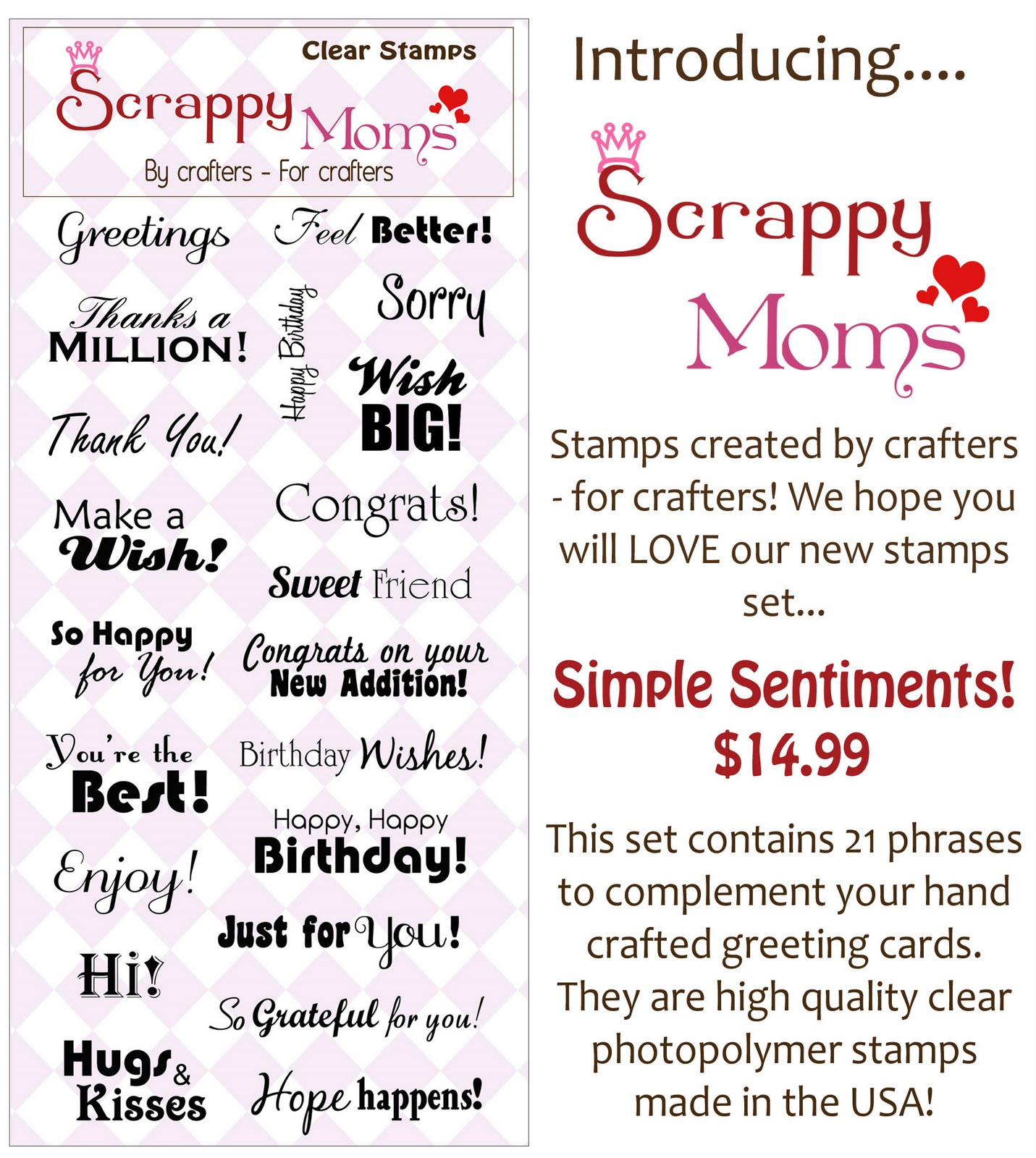 Scrappy Moms Stamps: November 2010