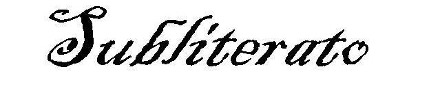 Subliterato