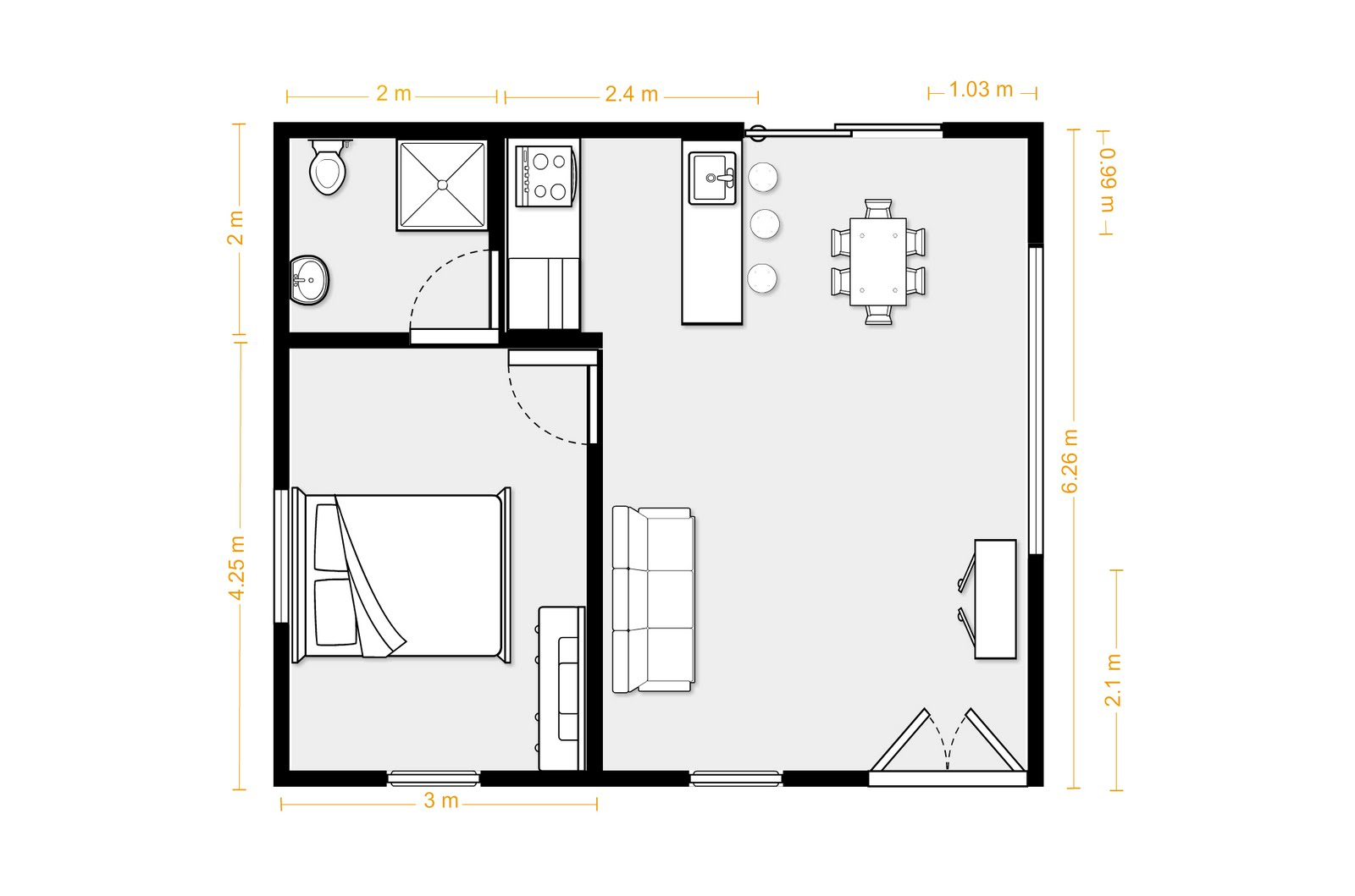the granny flat june