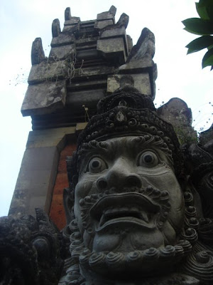 A statue in one of the many temples in Bali
