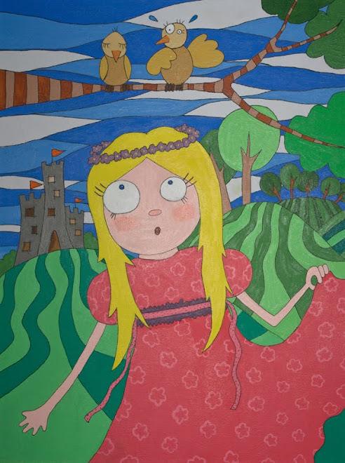 """Pintura en acrilico """"Princesa Psy"""""""