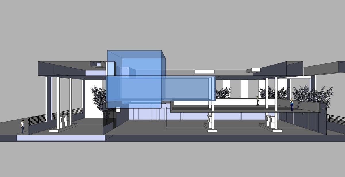 Miwang Design Gas Station Converted Restauant Chez Leon