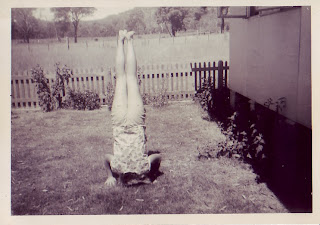 Julie in the garden of the main house early 1962 aged 13.