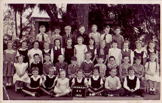 I look quite chuffed with myself in this shot. My second cousin, Graeme, is third from the right in the second row. His mother is my father's cousin and she married his best mate, Bill when they got back from New Guinea with the army in 1945.
