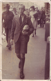 Athol aged about 14 on his way to parry with John Dease on Quiz Kids