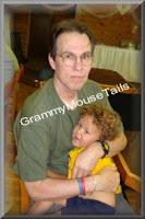 snuggle time with grandpa photo image