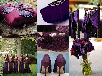 Photo Credits 1 Purple Ring Pillow TheKnot 2 Purple Clutch Bridescom