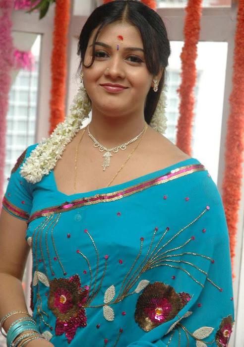 tollywood jyothi krishna in blue saree