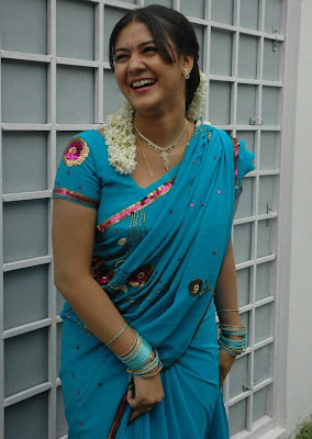 tollywood jyothi krishna in blue saree hot photoshoot