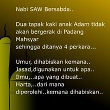 Sabda Rasulullah s.w.t..