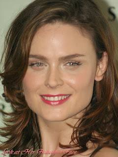 Emily Deschanel Beautiful Face And Her Icy Bluish-green Eyes