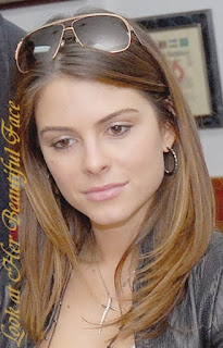 Maria Menounos Beautiful Face In Shade Of Brown