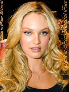 Candice Swanepoel Long Blonde Wavy Hairstyle