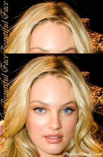 Candice Swanepoel Face And Her Round-High-Broad Forehead