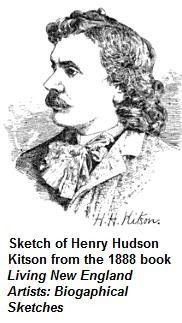 1888 sketch of Henry Hudson Kitson
