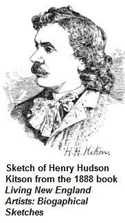 1888 sketch of Henry Hudson Kitson