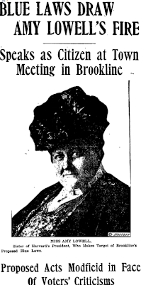 Amy Lowell article, Boston Globe