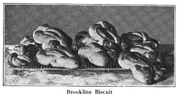 Brookline Biscuits as shown in the November 1907 Boston Cooking-School Magazine
