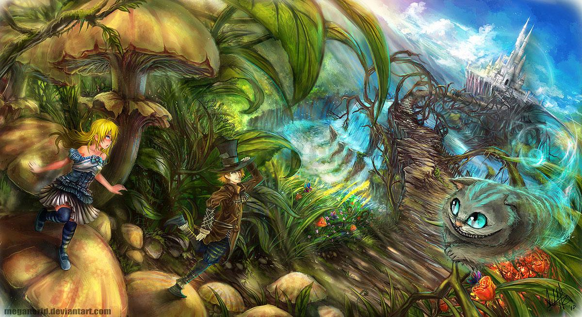 anime world alice in wonderland