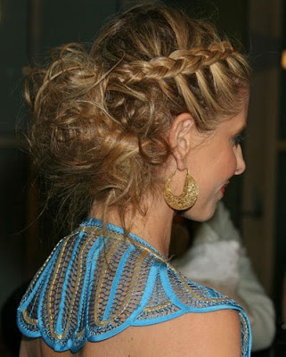 Jennifer Aniston Long Hairstyle with braided bangs