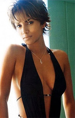 Halle Berry short layered hair styles for balck women